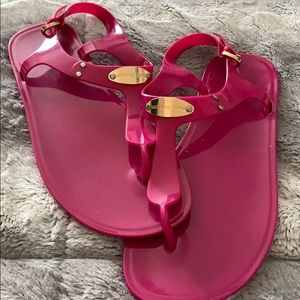 Michael Kors Pink Jelly Sandals 10